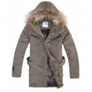 Moncler Fur Men Coats Long
