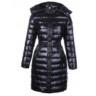 Moncler Coats Women Long Hooded Down