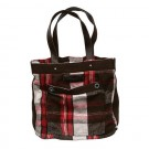 Abercrombie & Fitch Red Grey White Plaid Bags