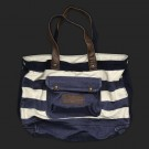 Abercrombie & Fitch Dark Blue White Stripe Bags